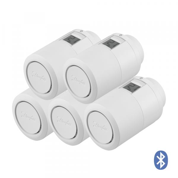Thermostat de radiateur Danfoss Eco HOME Bluetooth, Set de 5 pièces
