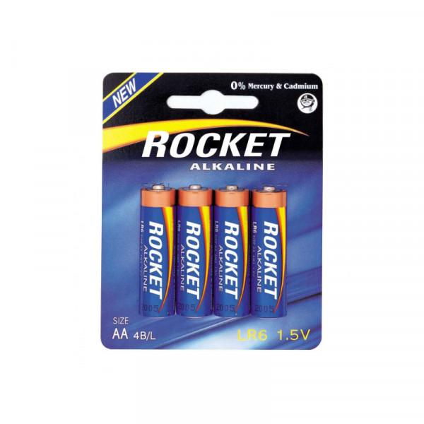 Piles LR6 AA Rocket Alkaline Blue, 4 piles